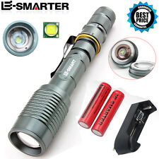 CREE XML T6 LED 18650 Tactical Flashlight Waterproof Torch Lamp+Battery+Charger