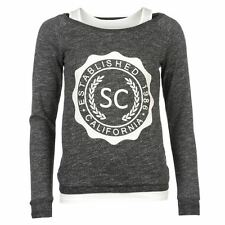 SoulCal Womens Double Layer Sweater Light Pullover Long Sleeve Crew Neck Top