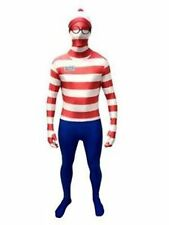 Wheres Wally Official Morphsuit Book Week  Fancy Dress Costume Outfit Size M-L