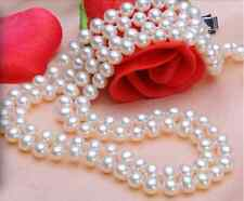 Mother's Day 8-9mm 16/17,17/18,18/19,19/20INCH AAA Akoya White Pearl Necklace