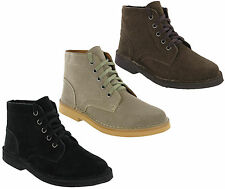 Roamers Desert Boots Mens 5 Eye Classic Real Suede Leather Ankle Boots UK6-12