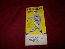 Vintage 1962 Baseball Handbook and Schedules, Sioux Falls Argus Leader Sponsor.