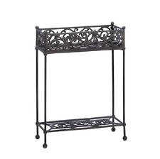 """Cast Iron Two-Tier Potted Plant Stand 20"""" by 28"""" Yard & Garden Decor 10015519"""
