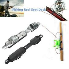 Fish Tackle Wheel Reel Seat Deck Fishing Rods Pole Clip Stainless Steel Portable