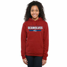 Stony Brook Seawolves Women's Team Strong Pullover Hoodie - Red - NCAA