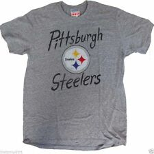 New Authentic Junk Food Mens NFL Pittsburgh Steelers Game Day Tri Blend T-Shirt
