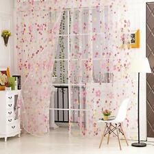 New Sheer Scarf Valances  Floral Tulle Voile Door Window Curtain Drape Panel