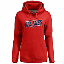 Ole Miss Rebels Women's Double Bar Pullover Hoodie - Red - NCAA