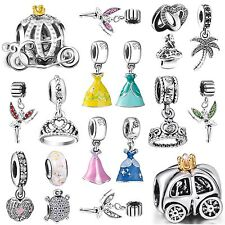 European Genuine 925 Silver Charms Bead Fit Fashion sterling Bracelets Necklace