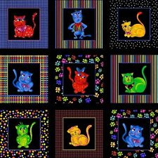 Loralie Designs Cool Cats Cotton Quilt Fabric