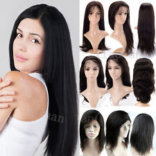 6A Remy Peruvian Lace Front Wigs Human Hair 100% Straight Silky Hair Wig Top #ap