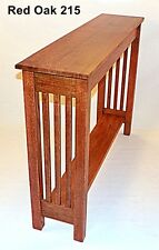 Custom Console Hall Sofa Table Quarter Sawn Oak Arts Crafts Mission 26 Colors