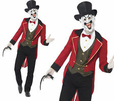 Deluxe Sinister Ringmaster Mens Fancy Dress Circus Costume + Mask M,L