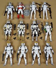 Star Wars Action Figure Lot Army Builder Clone Trooper Geonosis Assault & more!!