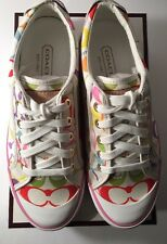 Coach Barrett White MultiColor Signature Sneakers New In Box Size: 7.5