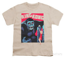 Youth: King Kong - Bright Poster Apparel Kids T-Shirt - Cream