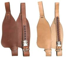WESTERN HORSE SADDLE YOUTH REPLACEMENT LEATHER STIRRUP FENDERS MED OR LIGHT OIL