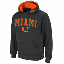 Miami Hurricanes Stadium Athletic Arch & Logo Pullover Hoodie - Charcoal - NCAA
