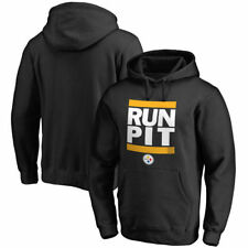 Pittsburgh Steelers NFL Pro Line RUN-CTY Pullover Hoodie - Black - NFL