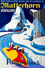 Vintage Matterhorn Bobsleds Disneyland Poster - Available in 3 Sizes