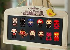 100 pcs Marvel's the Avengers Fridge Magnets,Magnetic Stickers,office stationery