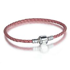 New Leather Bracelet Necklace chains Fit 925 Sterling Silver European charm Bead