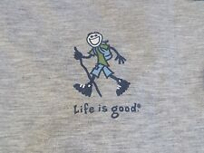 "LIFE IS GOOD Men's Good Move L/S Workout Hiking ""Hike Stick"" Size (M) NWT @ $40"