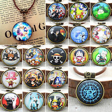 Pocket Watch Patteren Charm Necklace Anime Cosplay One Piece Miku SAO Pendants