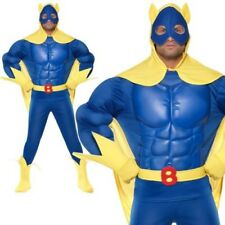 Bananaman Costume Mens Super Hero Fancy Dress costume M-XL