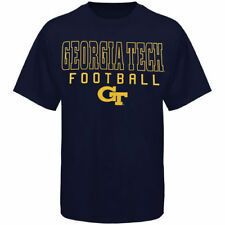 Georgia Tech Yellow Jackets Frame Football T-Shirt - Navy Blue - NCAA