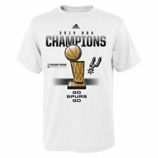 San Antonio Spurs Adidas Fin14 Youth 2014 Lr State Of A Champ  T-Shirt - White