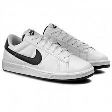 Nike Tennis Classic Leather Mens Size Shoes Black White Casual 312495 129