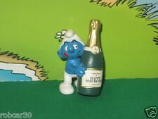 SCHTROUMPF SCHLUMPF SMURF w BOTTLE HAPPY SMURFDAY ,VERY RARE