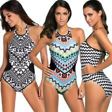 Women's One Piece Swimsuit Padded Swimwear Bathing Monokini Bikini Suit New R6C8