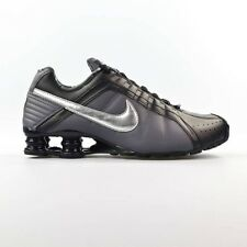 Nike Shox Junior Womens Size Running Shoes Black Metallic Silver 454339 020