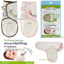 Original Adjustable Baby Infant Infan Swaddle Wrap Sleep Bag 100% Cotton 7-15lbs