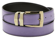 Reversible Belt Bonded Leather with Removable Gold-Tone Buckle LILAC / Black