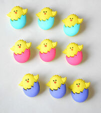 3 Yellow Chicks in Easter Egg Buttons ~ Shank ~ Jesse James / Choose Color
