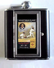 Cricket Advertisement 5oz Flask Cigarette Case ID Wallet USA Made