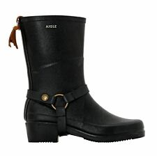 Aigle Miss Julie Black Womens Boots