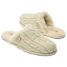 NIB UGG Australia Sweater Knit Scuffette Slippers Cream