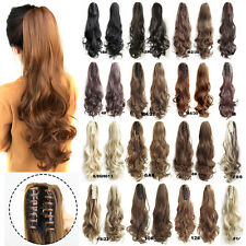 CW HAIR-21.6'' Long Big Wave Claw Clip In Hair Ponytails Hair Extension