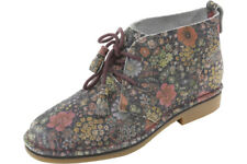 Hush Puppies Women's Cyra Catelyn Black Floral Suede Boots Shoes HW05490-005