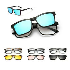 UK Outdoor UV400 Polarized Magnet Flip-up Lenses Sunglasses Myopia Glasses