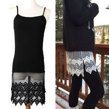 Dress Loose Sleeveless Tank Top Shirt Blouse Lace Spaghetti Knitted Strap Vest