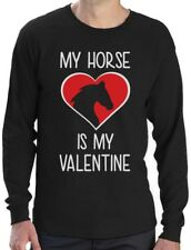 My Horse Is My Valentine Valentines Day Gift for Horse Lover Long Sleeve T-Shirt