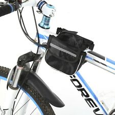Bike Handlebar Bag Bicycle Pannier Frame Tube Outdoor Cycling Pouch Front Basket