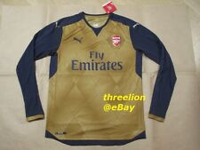 BNWT Puma 2015/16 ARSENAL Gunners Away L/S Soccer Jersey Football Shirt Trikot
