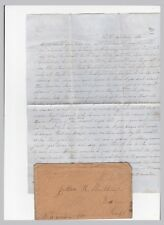 South Sandord Maine Manuscript Cancel on cover to Boston with Letter
