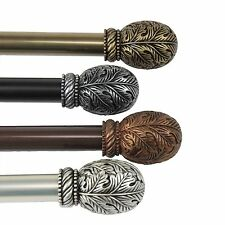 """Curtain Rod 3/4"""" OD #06 choose from 4 colors & 4 sizes 28""""-170"""""""